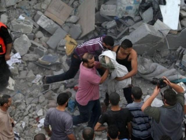 اسرائیل نے غزہ میں آج مزید 17 لاشیں گرا دیں، شہادتوں کی تعداد 1374 ہوگئی