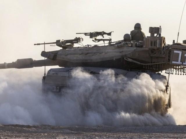 اسرائیلی ٹینکوں کی غزہ پر چڑھائی، مزید 12 فلسطینی شہید ، تعداد 260 ہوگئی