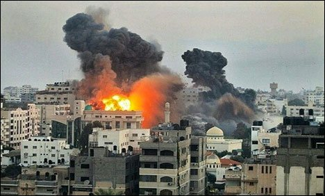 غزہ پر اسرائیلی بمباری جاری، جاں بحق فلسطینیوں کی تعداد 213ہوگئی