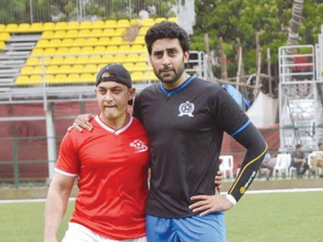 SPOTTED! Aamir Khan and Abhishek Bachchan