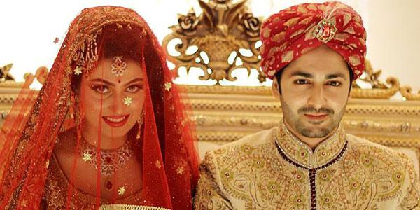 عائزہ خان اور دانش تیمور شادی کے بندھن میں بندھ گئے
