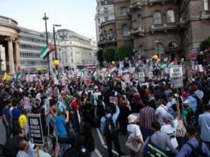 غزہ میں حماس کے حق میں ریلی،لوگوں کا سمندر