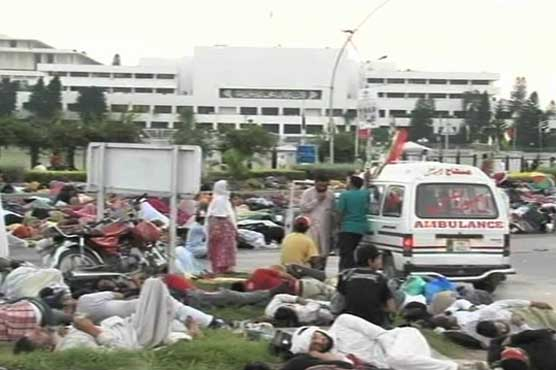 PTI, PAT stage sit-in at Constitution Avenue