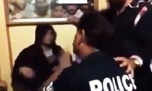 خاتون پر تشدد کرنیوالے 'جعلی پولیس اہلکار' کا ریمانڈ