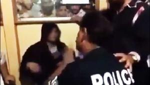 پولیس اہلکار کی خاتون پر تشدد کی وڈیو منظرعام پر آگئی