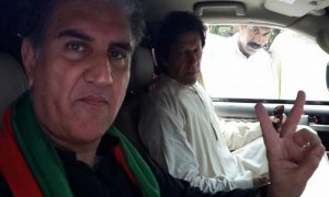 PTI workers stage protest against Shah Mahmood Qureshi