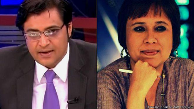 انڈین میڈیا میں قوم پرستی پر'جنگ'